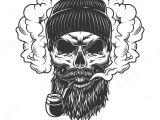 Skull Drawing Smoke Skull In Smoke Cloud Stock Vektor A C Imogi 211663300