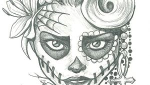Skull Drawing Tumblr Easy Sugar Skull Lady Drawing Sugar Skull Two by Leelab On Deviantart