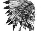 Skull Drawing with Feathers Indian Skull and Feathers Image Design From the Collection Of Native