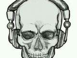 Skull Drawing with Headphones 89 Best Skull Images