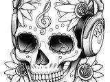 Skull Drawing with Headphones 90 Best Skull Coloring Pages Images Skull Skulls Coloring Pages