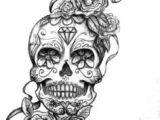 Skull Drawing with Snake Sugar Skull Roses Tattoos Body Art Inspiration Arrows