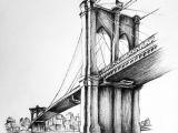 Skyscraper Drawing Easy Bridge Pencil Drawing Architectural Art In 2020 Cool Art