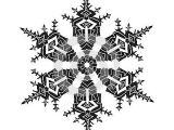 Snowflake Drawing Easy Hand Drawn Realistic Silhouette Snowflake Black On White
