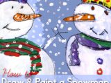Snowman Easy Drawing Adorable Close Up Snowman Painting Canvas Painting Ideas