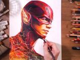 Speed Drawing Of A Cat the Flash Barry Allen Grant Gustin Speed Drawing Drawholic