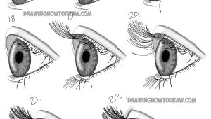 Steps In Drawing An Eye How to Draw Realistic Eyes From the Side Profile View Step by Step