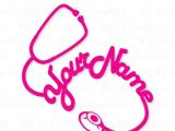 Stethoscope Drawing Easy Nurse Decal Doctor Decal yeti Tumbler Decal Stethoscope