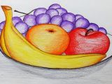 Still Life Drawing with Oil Pastels Easy How to Draw A Plate Of Fruits Step by Step Easy Draw