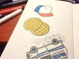 Stranger Things Drawings Easy Sticker Doodles Breakfast Doodle Waffle Drawing Stranger