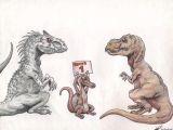 T Rex Drawing Cute Indominus Rex Vs Tyrannosaurus Rex by theyahid On Deviantart