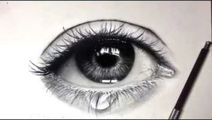 Teardrop Eye Drawing Tutorial How to Draw Shade A Realistic Eye and Teardrop with