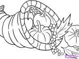 Thanksgiving Drawing Ideas Easy Cornucopia How to Draw A Cornucopia Step by Step
