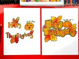 Thanksgiving Pictures Easy to Draw How to Draw Happy Thanksgiving Block Letters Art for Kids
