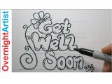 Things to Draw with Markers Easy Diy Get Well soon Card Easy Step by Step Black Marker Get