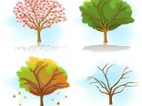 Trees that are Easy to Draw Four Seasons Tree Drawing Same Tree In Different Seasons