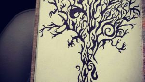 Tribal Drawing Ideas Tribal Design Tree Drawing with Sharpie Sharpie Tattoos