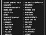 Tumblr Drawing Challenge List Ochibrochi S Art Dump Ochibrochi S 31 Witch Prompts Inktober is