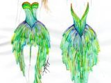 Tumblr Drawing Dress Peacock Dress Tumblr Peacock Peacock Dress Dresses Peacock