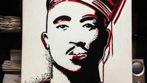 Tupac Drawing Easy Tupac Art Artist Canvas Paint Painting Tupac Shakur