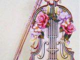 Violin Drawing Flowers 2019 Full Square Diamond Embroidery Violin Pattern Diamond Painting