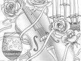 Violin Drawing Flowers Violin and Flowers Free Coloring Pages Adult Coloring Pages
