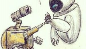 Wall E Cartoon Drawing Wall E Zeichnungen Pinterest Zeichnungen
