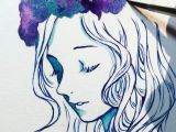 Watercolor Drawing Tumblr Full Video On My Tumblr Link In Description More Galaxy Flower