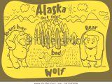 Weird Animal Drawings Drawing Funny Animal Alaska Stock Vector Royalty Free