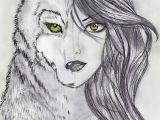 Wolf and Girl Drawing Werewolf Drawings Teenage Girl Google Paiea Ka Wolf