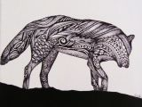 Wolf Drawing Abstract Abstract Wolf Silhouette My Art Abstract Wolf My Arts Wolf