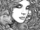 Wolf Drawing Flowers Wolf by Fnigen On Deviantart Flowers with Animals Paintings