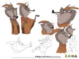 Wolf Drawing In Cartoon Zaida and the Lost Stones Story Project On Behance Character