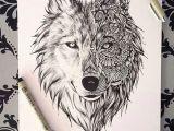 Wolf Drawing Mandala Beautiful Wolf Drawing as A Tattoo Always Ink Tattoos Wolf
