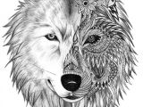 Wolf Drawing Mandala Pin by Patti Lissberger On Wolfe Zentangle Pinterest Wolf