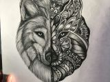 Wolf Drawing Mandala Wolf Mandala Instagram Samigray Tattoo Art Drawings and Painting