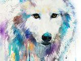Wolf Drawing Watercolor Arctic Wolf Slavi Aladjova Fineartamerica Com Animal Paintings I