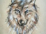 Wolf Drawing Watercolor Wolf Drawing In Crayons Art Drawings Crayon Drawings