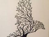Wolf Nature Drawing Tree Bird Art by Inspirations Pinterest Bird Tree Drawings