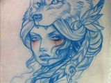 Wolf Neo Trad Drawing Thievinggenius Done by Teniele Sadd Tattoos Pinterest