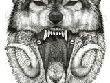 Wolf Roaring Drawing Pin by Henry Gonzalez On Tattoos Tattoos Wolf Tattoos Art