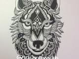 Wolf Roaring Drawing Zentangle Wolf Zentangle Pinterest Wolf Tattoos Wolf and Tattoos