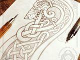 Wolf Viking Drawing Drakkar S Head Wolf Fast Pencil Sketch Workflow Celtic