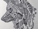 Wolf Zentangle Drawing Wolf Zentangle Art Amino