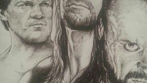 Wwe Drawings Easy Wonderful Drawing by Jerry the King Lawler Undertaker Wwe