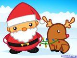 Xmas Cartoon Drawing How to Draw Santa and Rudolph Santa and Rudolph Keeping Christmas