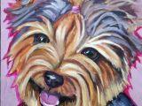 Yorkie Drawing Easy original Acrylic Painting Yorkie Dog Painting Dog