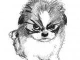 Yorkie Drawing Easy Sketch Of Small Angry Dog Dog Sketch Dog Drawing Dog