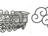 Z Clip Drawing Rayher Stanzform Eisenbahn U Wolke Train 60 667 000 Q Z