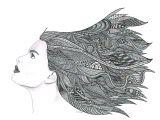 Zen Drawing Ideas Pencil and Pen Drawing Art Print Windy Day Art D Pinterest